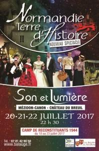 Recto du Flyer de Normandie Terre d'Histoire