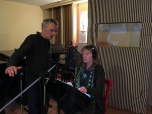 Sylvie se prépare pour l'enregistrement